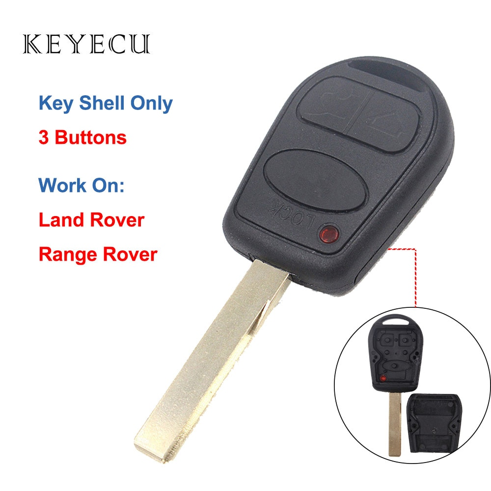 Keyecu לנד רובר ריינג 'רובר L322 HSE ווג 2002 2003 2004 2005 2006 רכב מרחוק מפתח Shell Case Fob