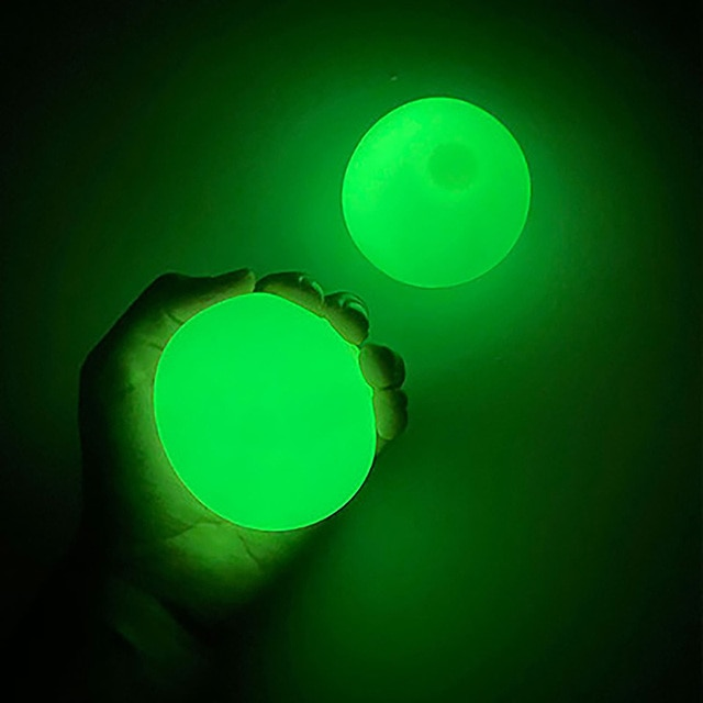 1/2/4pcs Luminous Stick Wall Ball Decompression Fidget Toys Globbles Fluorescent Sticky Target for Kid Teen Adult Toy 4