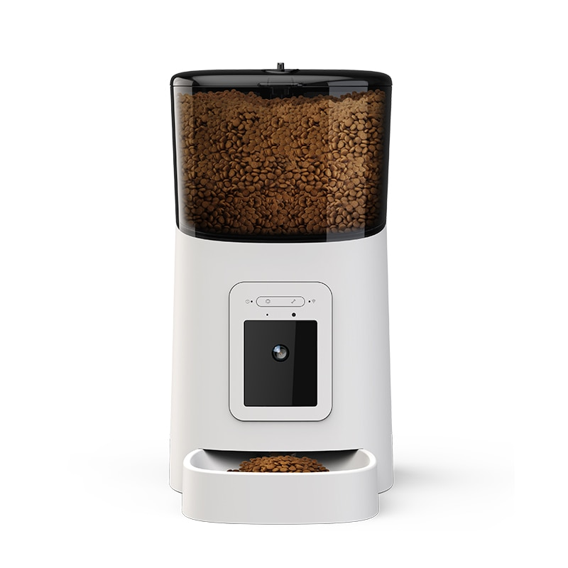 Built in camera can be connected to WiFi intelligent automatic feeder cat and dog pet feeder 6L