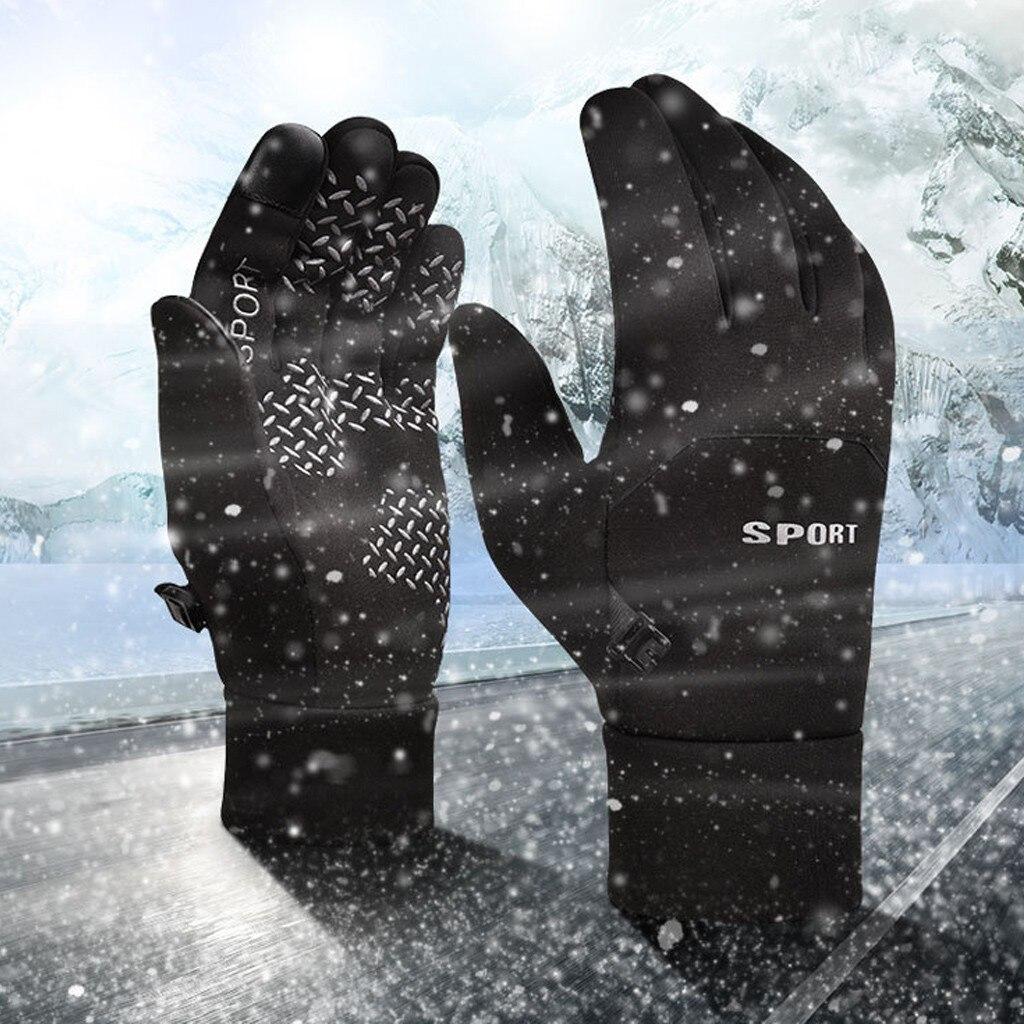 Luvas à prova dwaterproof água inverno quente dos homens luvas de esqui snowboard motocicleta mountain riding tela sensível ao toque neve windstopper # yl5