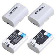 Batmax LP-E6 LP E6N LP E6 Blanc Batterie 2650mAh pour Canon EOS 90D EOS R R5 R6 6D 7D 5D Mark II III IV 5D 60D 60Da 70D 80D 5DS
