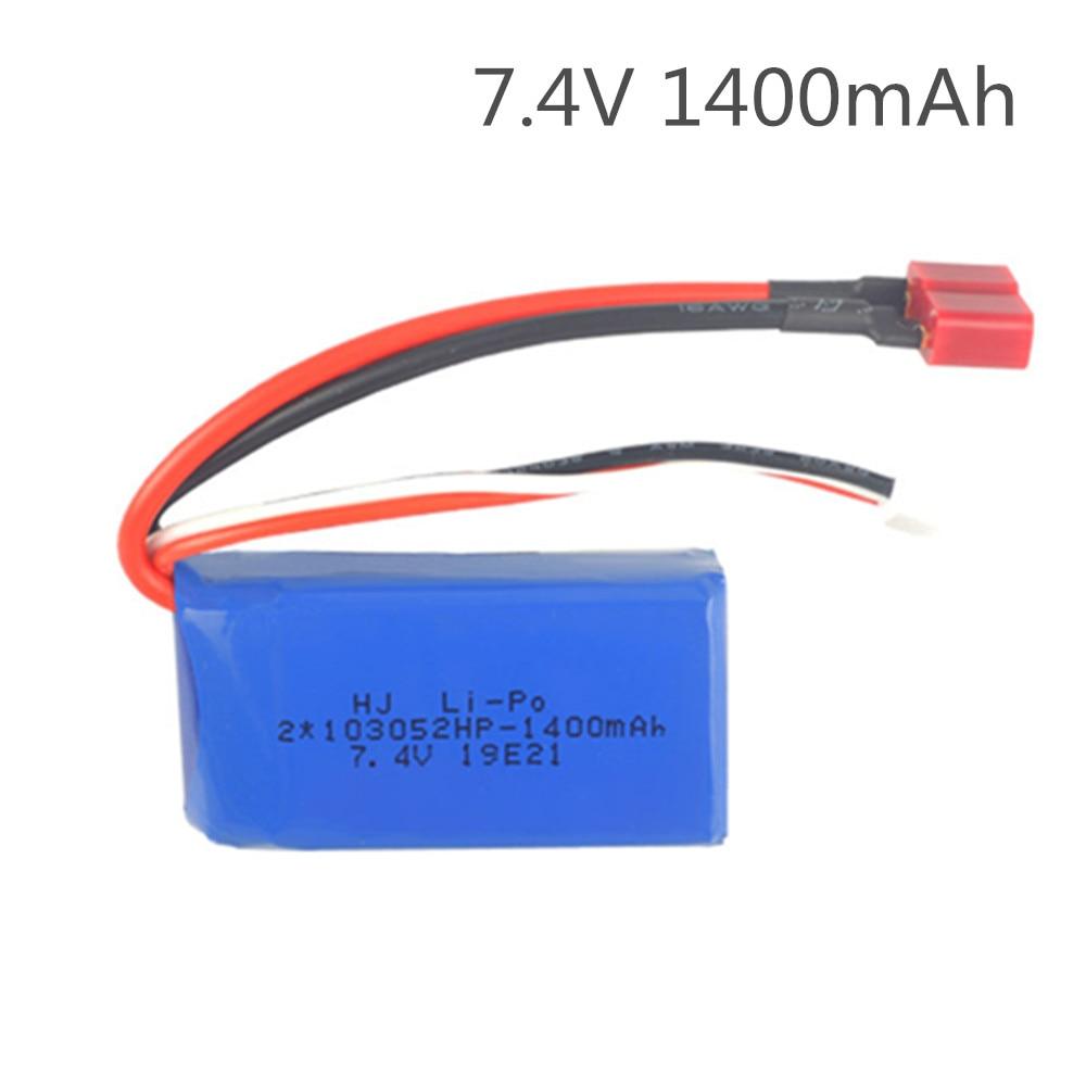 Batterie pour A959-B A969-B A979-B K929-B batterie Drone télécommande voitures hélicoptères 7.4V 1400mAh batterie au Lithium 25c 103052