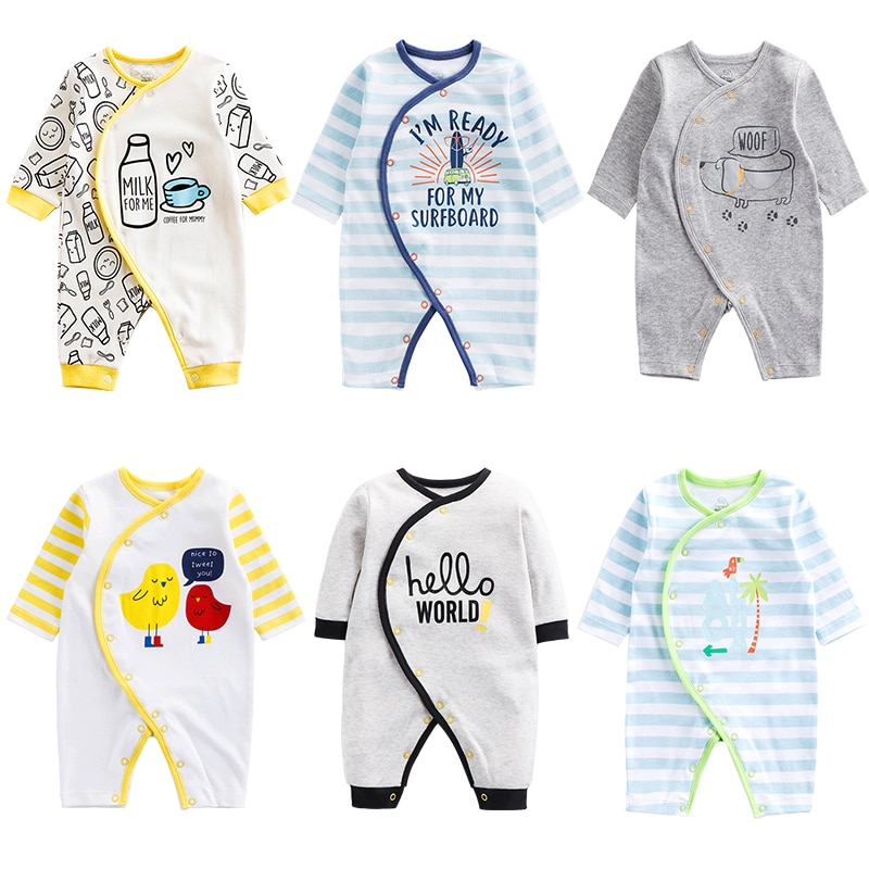 Summer Baby Rompers Spring Newborn Baby Clothes For Girls Boys Long Sleeve cotton Jumpsuit Baby Clothing boy Kids Outfits