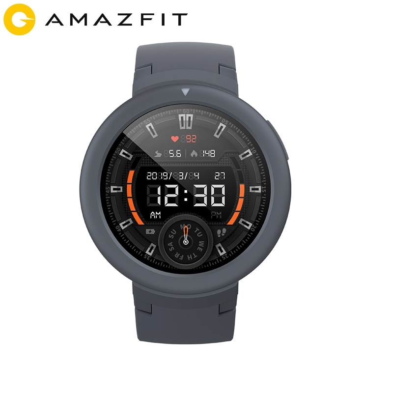 Global Version Amazfit Verge Lite Smartwatch GPS GLONASS Long Battery Life IP68 Smart Watch AMOLED Display for Android iOS Phone