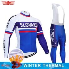 Ropa de Ciclismo de invierno 2020, conjunto 9D, Jersey de bicicleta nacional MTB, Ropa de Ciclismo térmica de lana para hombre, Ropa de Ciclismo larga