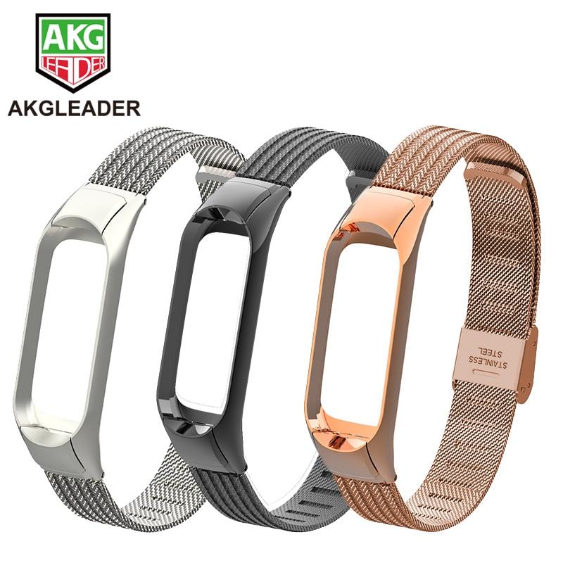 Mi Band 3 4 5 6 Wrist Strap Metal Screwless Steel For Xiaomi Mi Band 2 Bracelet Miband 3Wristbands Pulseira Miband 4 Wrist Strap