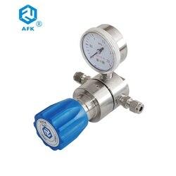 Regulador de pressão de gás nitrogênio de aço inoxidável do tipo com um calibre
