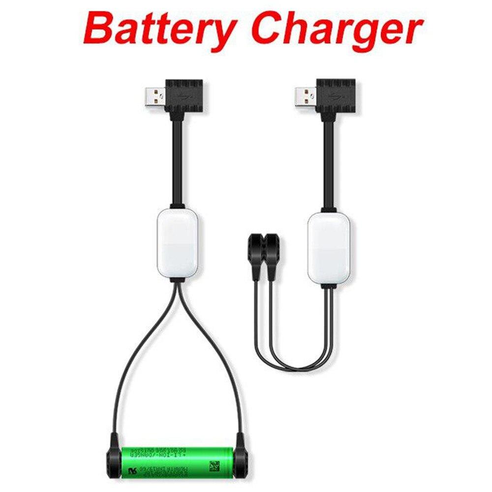 Cargador de batería A10 18650 para baterías de iones de litio multifunción magnético cargador USB Mini cargador/descarga de batería