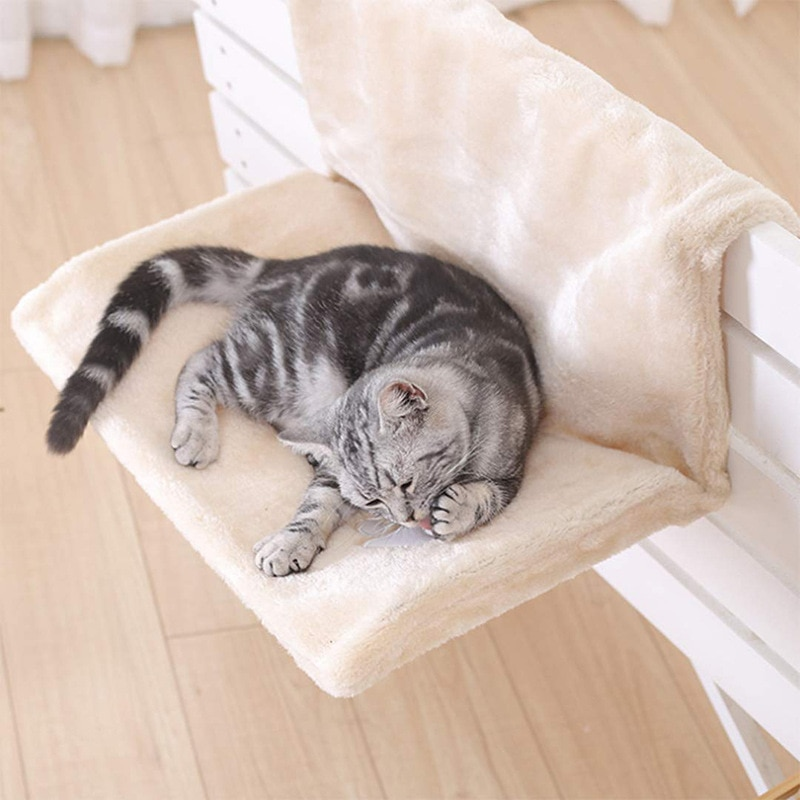 Cat Handing Bed Portable Cat Hammock Lounge Bed For Dog Pet Sleeping Soft Pet Bed Seat Hammock Remov
