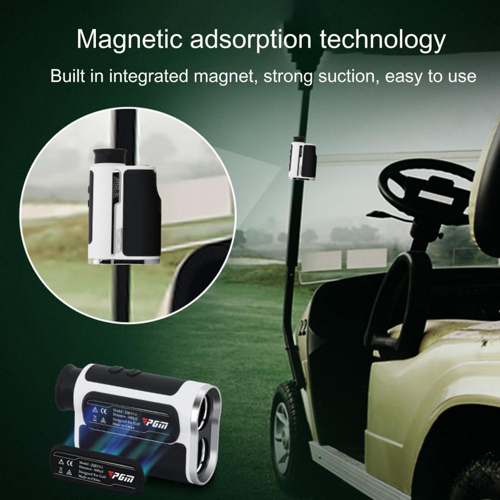 PGM Waterproof 600/1300 Yards Golf Laser Rangefinder Code Number Slope Compensation Flagpole Lock Telescope for Outdoor Sports