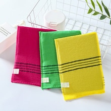 1/4pcs Double-sided Towel Korean Exfoliating Bath Washcloth Body Scrub Shower Towel Portable For Adu