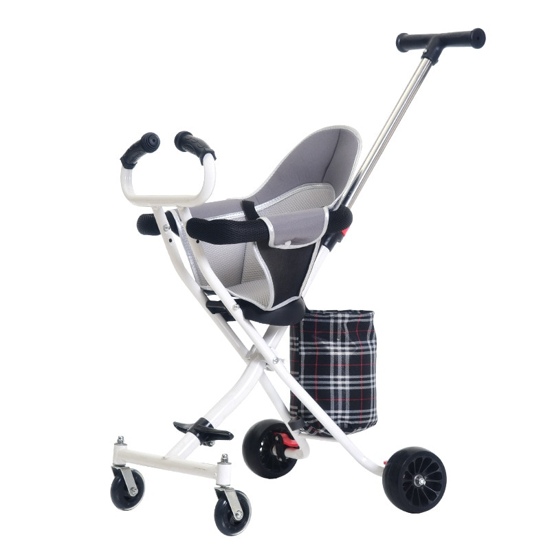 LazyChild 1-3 Years Folding Portable Baby Cart Baby Carriage Stroller Artifact Children Safety Seat Shopping Gift Wholesale 2021 baby stroller high view vip mode baby stroller with safety seat shockproof portable baby cart
