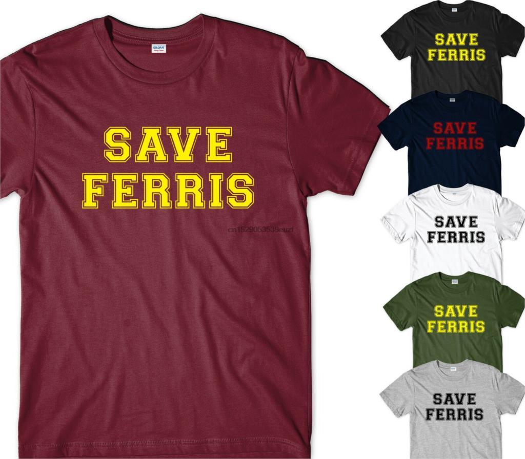 SAVE FERRIS TSHIRT - MENS RETRO MOVIE VINTAGE FERRIS BUELLERS DAY OFF GIFT COLL