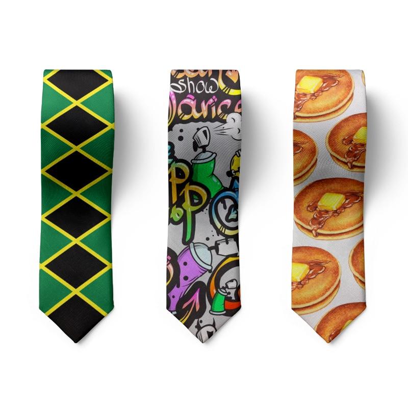 Модные мужские галстуки 3D печать Новинка пончики граффити галстуки аксессуары для вечерние свадьбы мужские галстуки подарки для мужчин