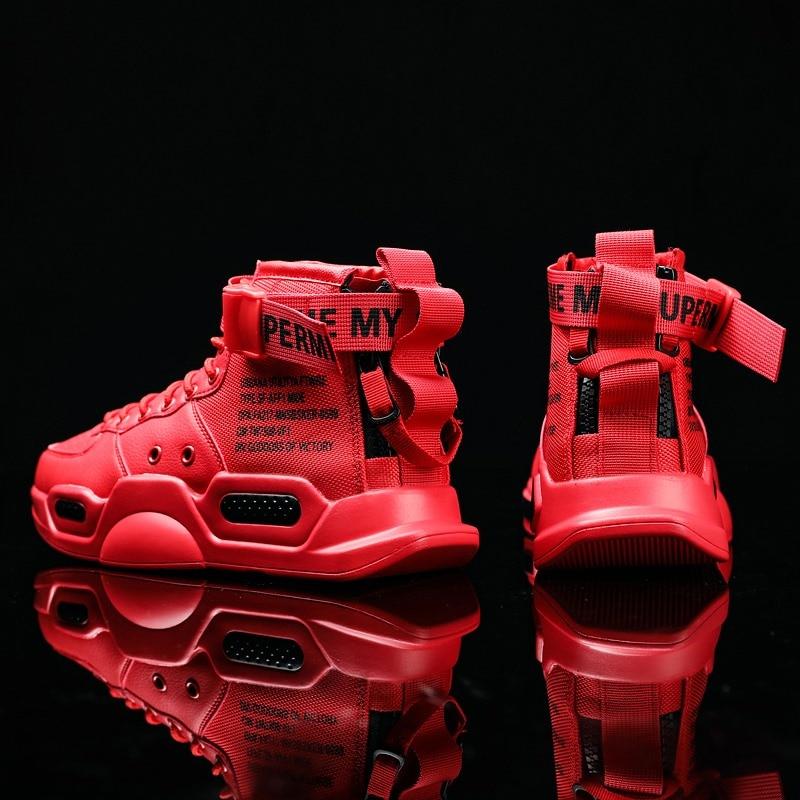 KLYWOO رائجة البيع عالية أعلى أحمر أسفل الاتجاه أحذية رياضية للرجال الهيب هوب أحذية رجالي عادية أحذية تنس الرجال الرياضة احذية الجري