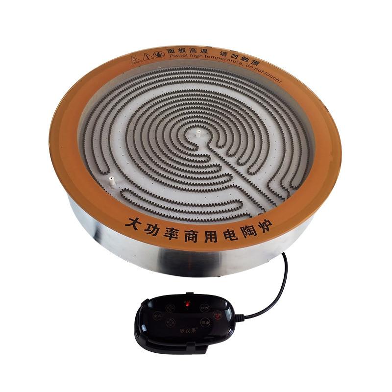 5000 واط الطاقة الكبيرة التجارية مشع طباخ واحد Hotpot flushbonading سلك التحكم الكهربائية TaoLu حنفية من السيراميك كوكتوب
