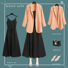 Plus Size Women's Clothing, Fat Sister,European And American Fashion Small Suit Spring New dDress Tw