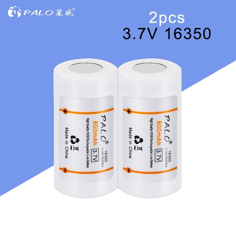 PALO 16340/16350 li-ion battery 3.7v li-ion rechargeable batteries rechargeable 16340 li ion batteries