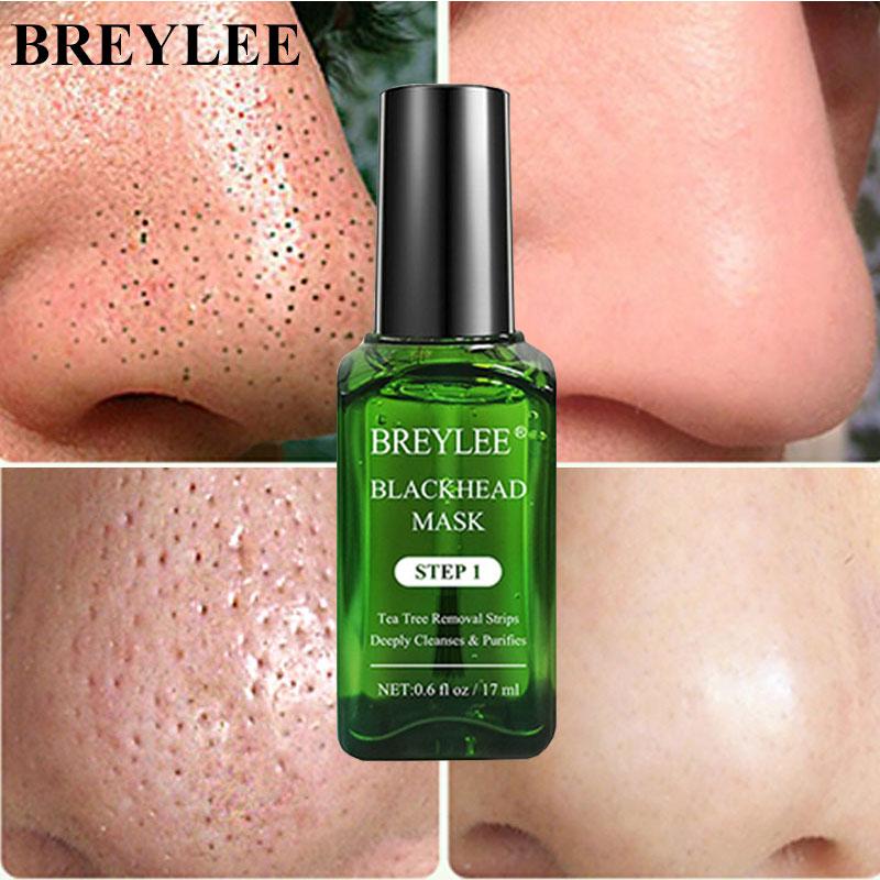 aliexpress.com - BREYLEE Tea Tree Blackhead Remover Serum Shrink Pores Essence Black Peeling Mask Oil-Control Face Sheet Whitening Skin Care 17ml