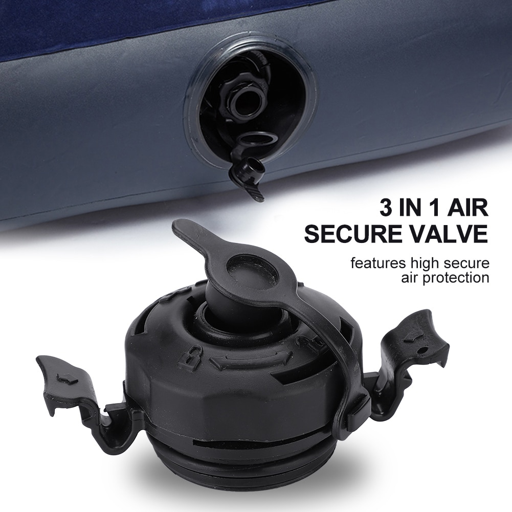 Tapa de Sellado seguro de válvula de aire 3 en 1 anticorrosión para colchón de cama de aire inflable Intex negro