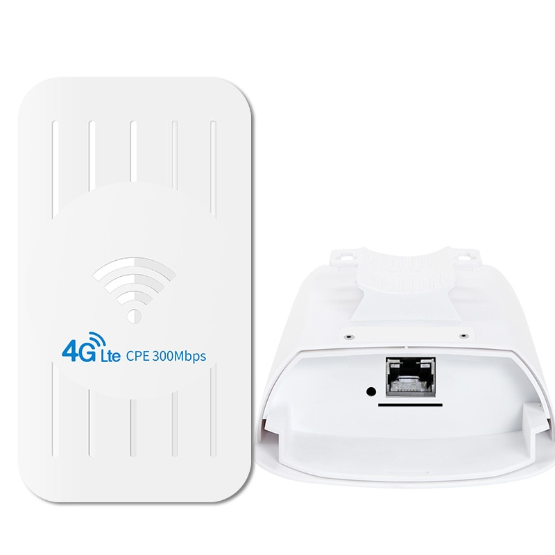 Outdoor WiFi Router 4G SIM Card 300mbps Wireless Bridge CPE / 4G Router 1km Range Expansion Router For IP Camera And 24 V Poe