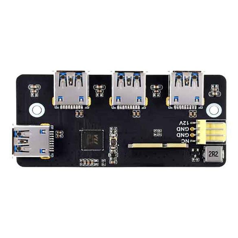 Waveshare Pcie إلى USB 3.2 Gen1 لوح تمديد محول ل Raspberry Pi وحدة الحساب 4 IO مجلس 4 منافذ XUSB