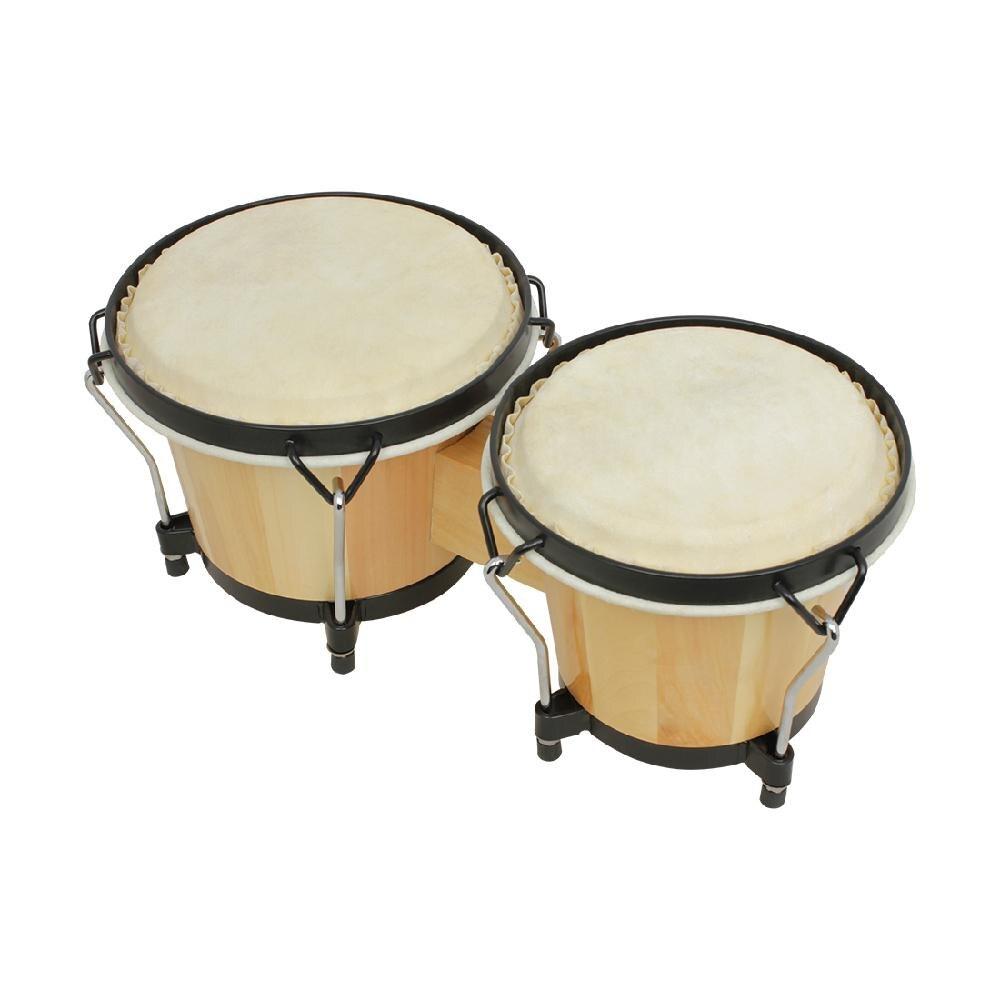 Instrumentos Musicais de Percussão Bongos Tambor Africano de madeira Cedo Aprendendo Brinquedos Educativos para Instrumentos De Percussão de Peças