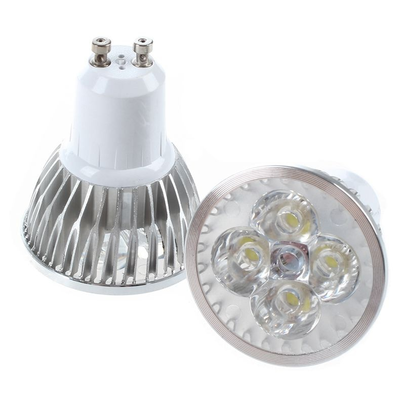 ¡Promoción! 6 uds 4W 85 V-265 V GU10 Ultra brillante día blanco 4 LEDs ahorro de energía bombillas LED