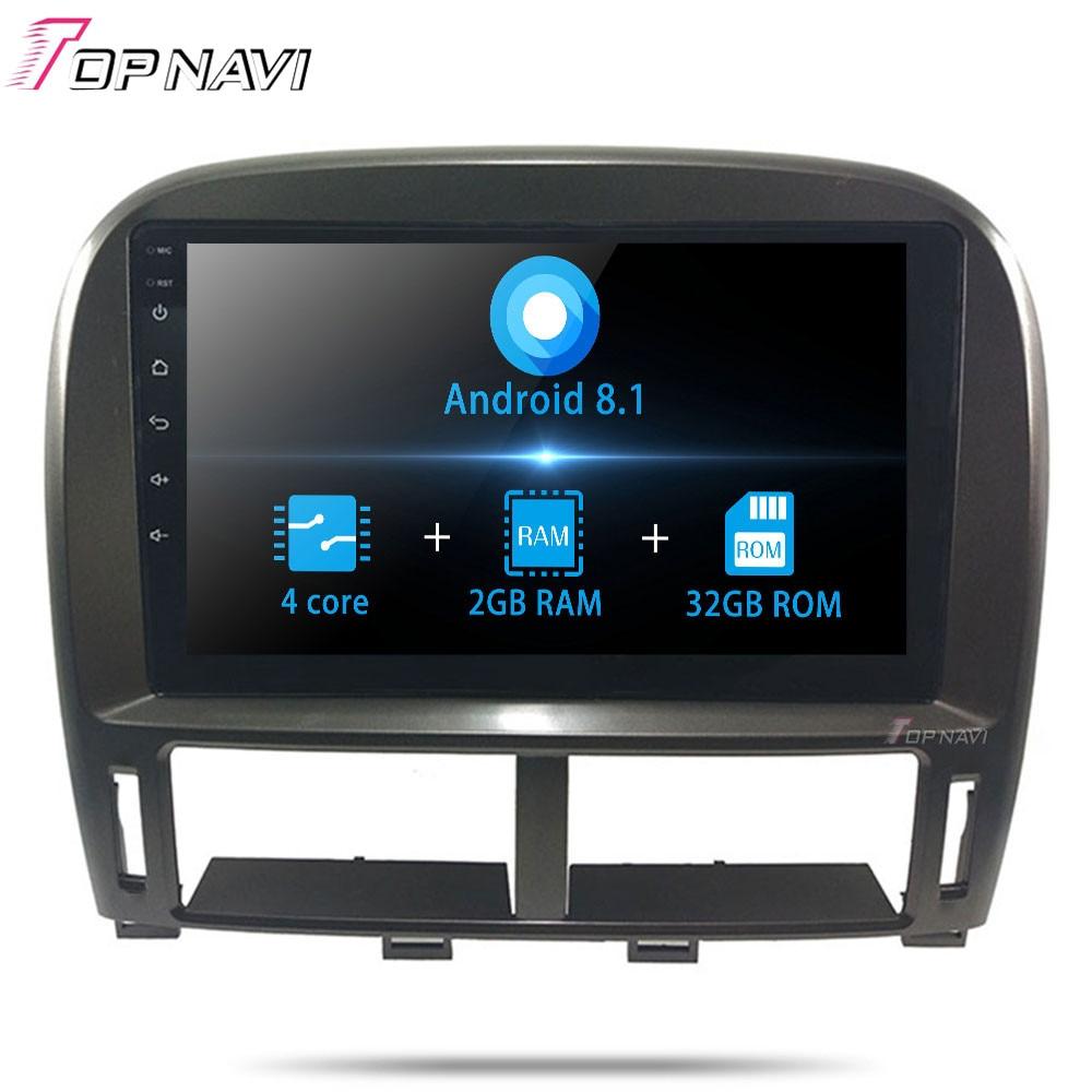 Android 8,1 Quad Core 9 coche reproductor Multimedia para Lexus LS LS430 XF30 2003, 2004, 2005, 2006 la Radio del coche mapa de Navegación estéreo GPS