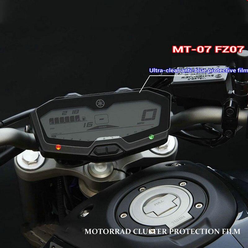 Защитная пленка для инструмента для yamaha FZ07 MT07 мотоциклетная Защитная пленка для защиты от царапин защитная пленка для экрана Blu-Ray
