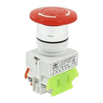 660V 10A montaje en Panel auto bloqueo rojo seta cabeza interruptor de fondo de emergencia