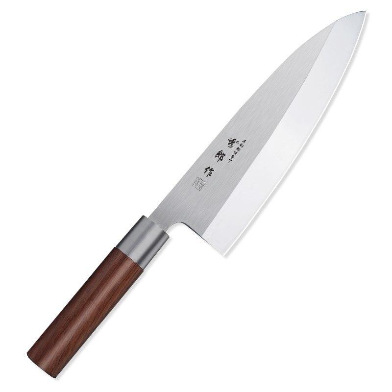 8 بوصة اليابانية ديبا سكين عالية الكربون 4CR13 الصلب الشيف سكين المطبخ فائدة سمك السالمون رئيس كوك السكاكين مع مقبض خشب الورد