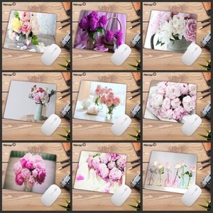 Big Promotion Pink Flower Vase Laptop Gaming Mice Mouse-pad Small Size Natural Rubber Game Mouse Pad for School Child Desk Mat