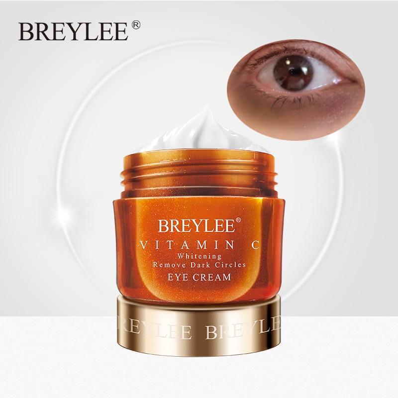 BREYLEE Eye Cream Vitamin C Whitening Remove Dark Circles Fade Freckles VC Eyes Care Cream Brightening Skin Anti-Puffiness 20g недорого