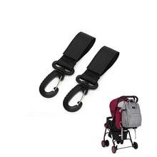 2pcs  Wheelchair Stroller Pram Carriage Bag Hanger Hook Baby Strollers Shopping Bag Clip Stroller Ac