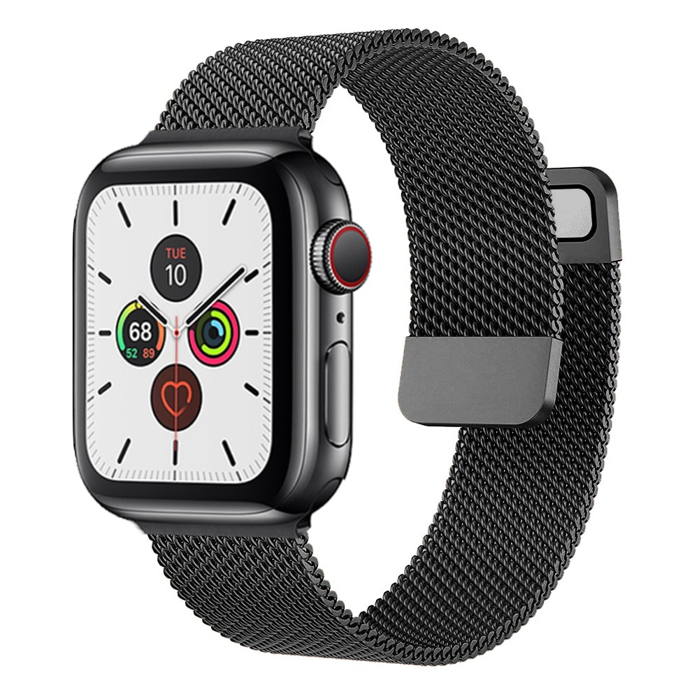 Strap For Apple watch Band 44mm 40mm 38mm 42mm 44 mm Accessorie Magnetic Loop Metal smartwatch brace