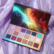 Changeable Bubble Nebula 18 Colors Eyeshadow Makeup Palette Stunning Multi-reflective Shimmer Glitter Peacock Blue Eye Shadow