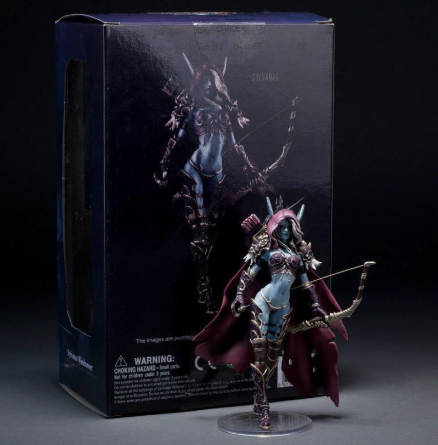 Figuras de acción de Wow World Of Warcraft, modelo de muñeco de 15cm HJ323 para mujer, Sylvanas, Windrunner