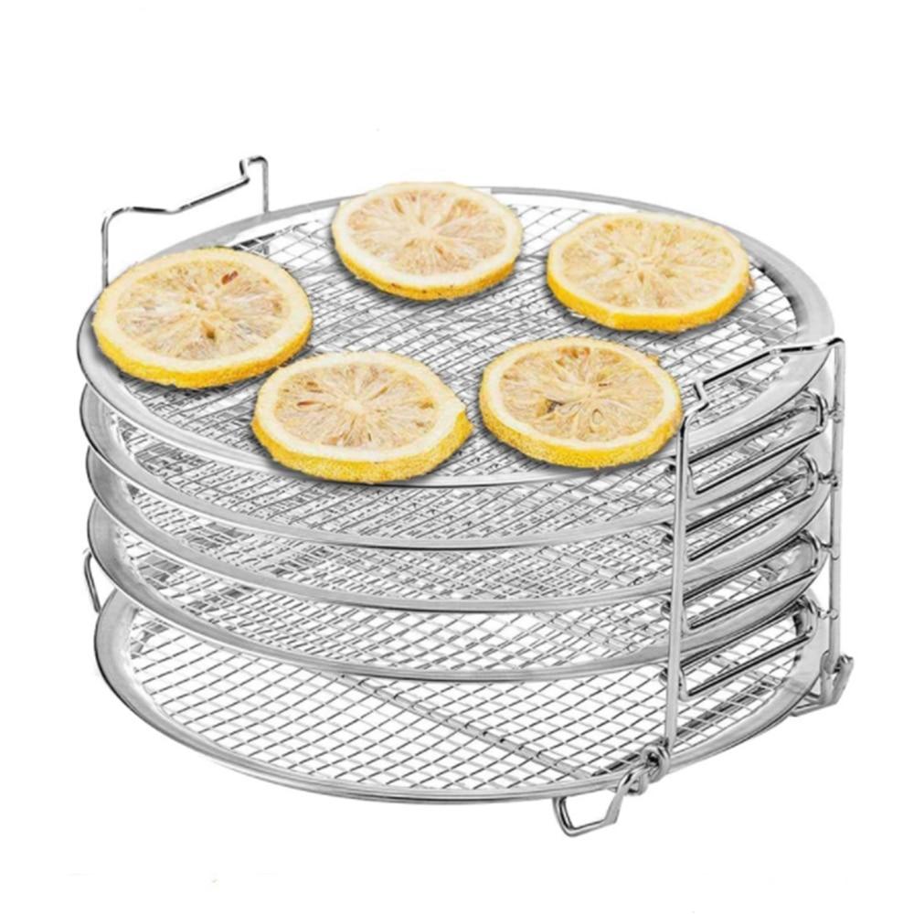 الهواء المقلاة اكسسوارات الغذاء ديهيدراتور تجفيف حامل المقاوم للصدأ الرف ل المقلاة الهواء 6.5-8QT قدر الضغط فرن رائجة البيع