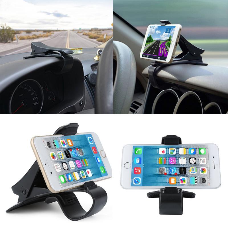 Universal teléfono móvil coche HUD Clip de salpicadero soporte para navegación de GPS teléfono soporte escritorio coche soporte Clip soporte