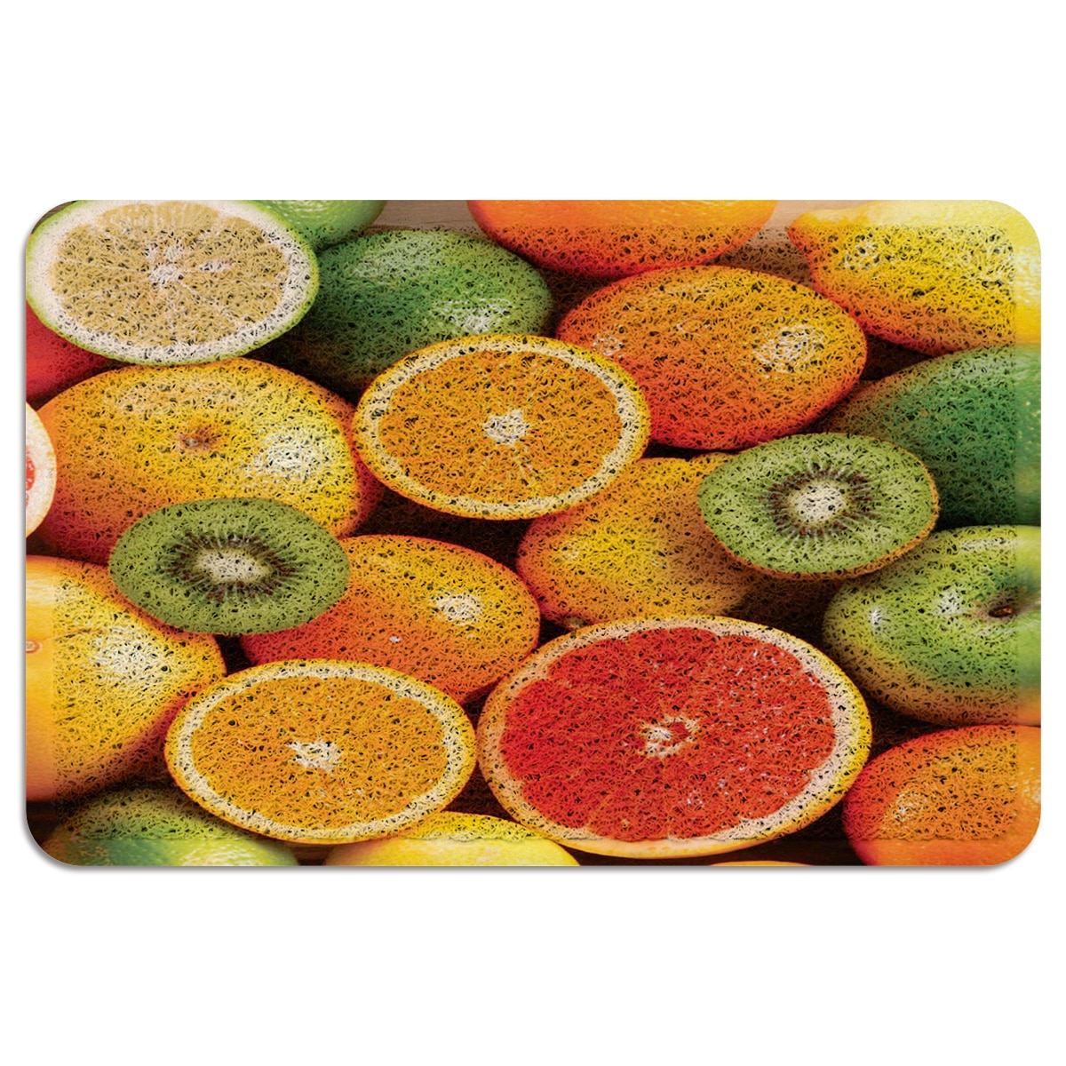 Alfombra de puerta naranja Kiwi naranja con lazo de alambre para exteriores, alfombra para pasillo, cocina, baño, felpudo antideslizante para entrada, decoración del hogar