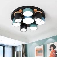 nordic modern ceiling light wood led lighting fixture living bedroom bathroom kitchen dining bedroom indoor decor lamp luminaire
