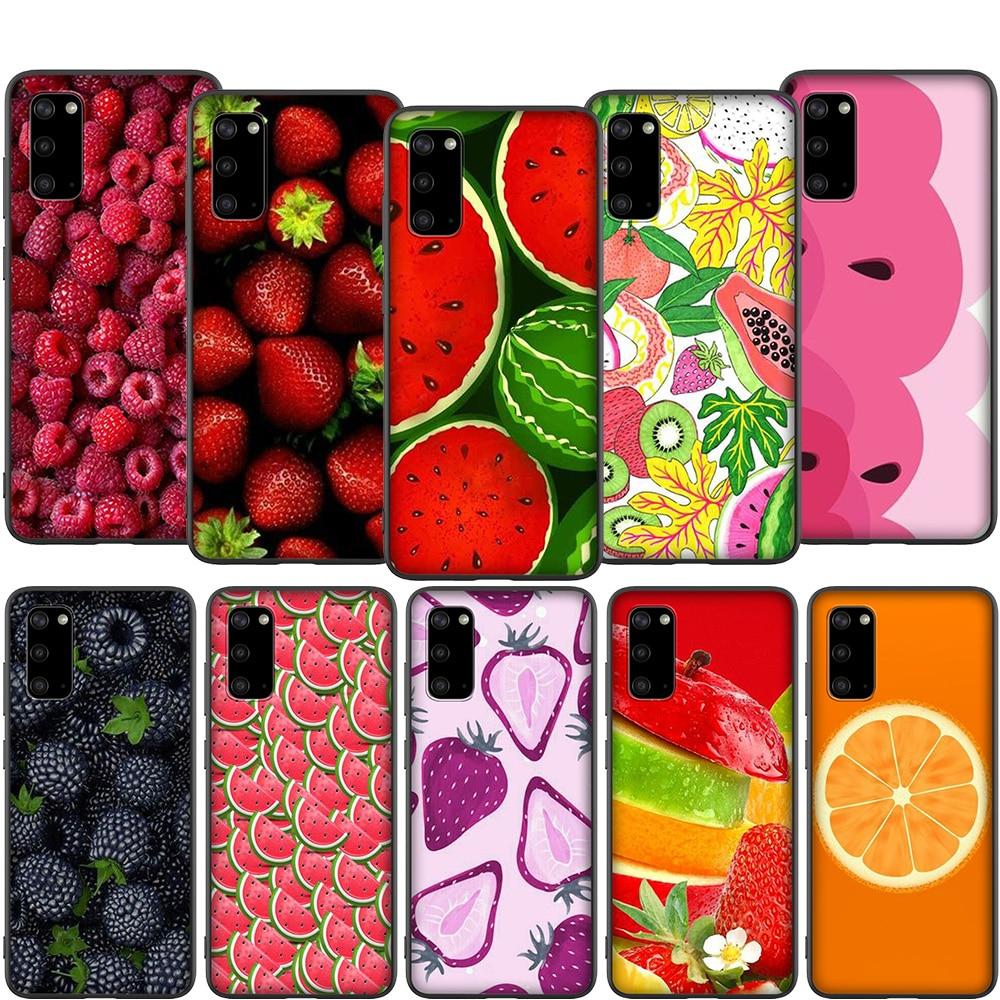 T75 Frutas Morango Melancia Caso para Samsung A2 A3 A5 A6 A7 A8 A9 A10S A20S A30S A40S A50S A70S J4 J6 J7 J8 Mais Prime
