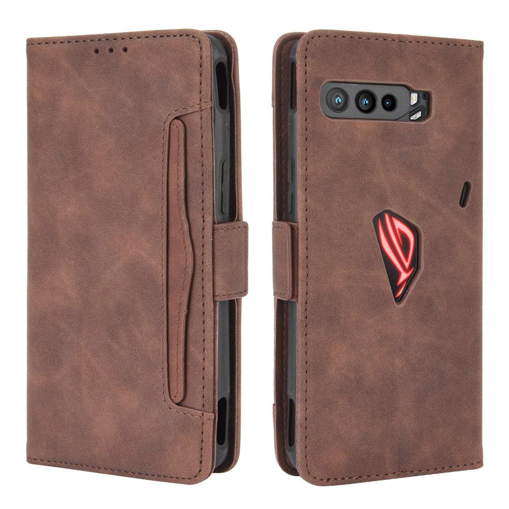 Slot para cartão de couro removível carteira titular para asus rog telefone 3 zs661ks flip caso rog phone3 360 proteger na capa rog3 à prova de choque