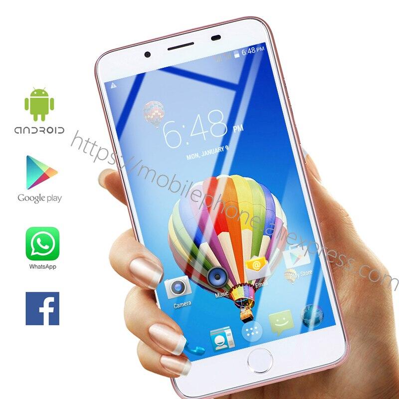 "Idioma Global 7Plus Android OS Smartphone 5,5 ""pulgadas Face ID Teléfono Móvil Inteligente Google Play Store regalo de auriculares de 3,5mm gratis"