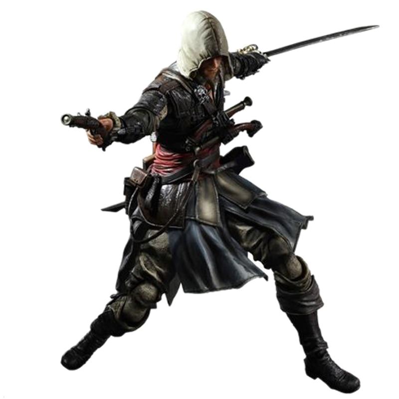 KO Playarts Assassins Creed IV Black Flag PA KAI Edward James Kenway Action Figure Model 27cm PVC Statue Collection Toy Figma
