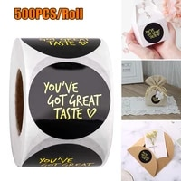 envelopepackaging baglabel sticker 1roll baking packaging box bag sealing decorative sticker handmade gift decor stickers