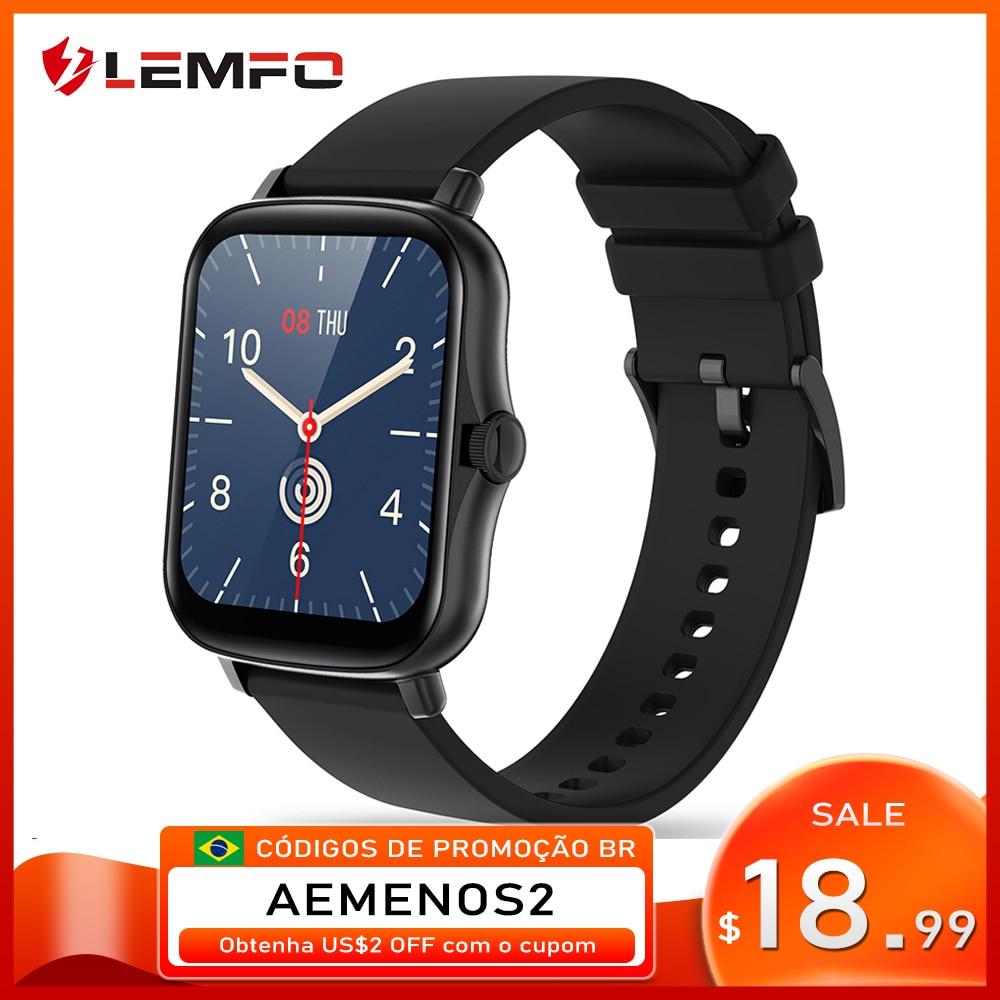 LEMFO ساعة ذكية Y20 2021 الرجال النساء 1.69 بوصة كامل شاشة تعمل باللمس جهاز تعقب للياقة البدنية IP67 مقاوم للماء GTS 2 2e Smartwatch pk P8 زائد