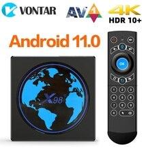 VONTAR X98mini Amlogic S905W2 TV Box Android 11 4G 64GB X98 mini Support AV1 Wifi BT Youtube Media P