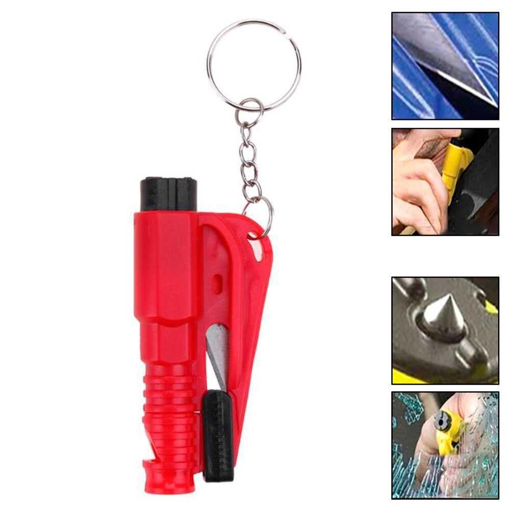 1 шт. самооборона шип конус мини-выключатель окна защитный брелок аварийный автомобильный безопасный молоток свисток резак